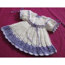 Vestidinho + Calcinha Em Crochê Para Sua Princesinha!