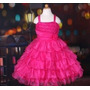 Vestido Infantil Festa Com Flor E Babados