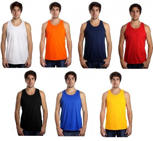 Kit C 10 Camisetas Regata Masculina Lisa Básica Atacado a964dd5d26f