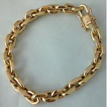 Pulseira Mod. Cartier Cadeado ( Oca) Em Ouro 18 Kl 750