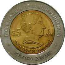 México - 5 Pesos 2010 (bimetálica) Dominguez