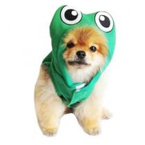 Roupa Fantasia Sapinho Para Cães Cachorros Tam Pp