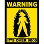Placa Decorativa Over 9000 Frete Barato