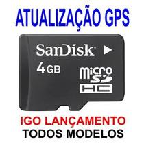 Atualização Gps Cartão Memória 4gb Igo Avisa Radares E 3d