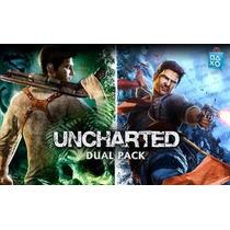 Uncharted 1 + Uncharted 2 Dual Pack Ps3 (leia A Descrição)