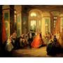 Festa Dança Salão 1728 Pintor Lancret Tela Repro