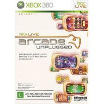 Xbox Live Arcade Unplugged Volume 1 Jogo Xbox 360