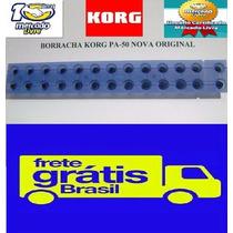 Borracha Teclado Korg Pa50 / Pa50 Sd Original Frete Grátis