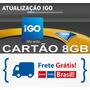 Gps Atualização Igo Cartão Memória 8gb Avisa Radares E 3d