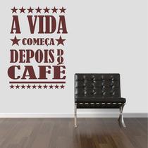 Adesivo Decorativo Parede Cozinha Estrela Café Coffe Frase