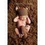 Urso Conjunto Touca Bota Tapa Fralda Newborn Foto Bebê Prop