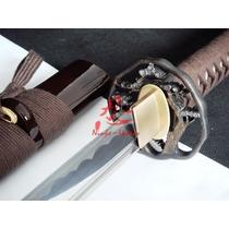 Espada Katana Para Corte Tameshigiri Afiada Aço 1060