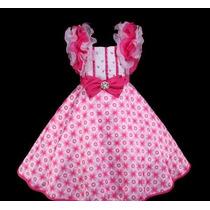 Vestido Infantil Princesa/festa Bordados E Alça Fru Fru