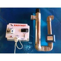 Aquecedor Piscina Easyhot Inox Completo Automático E Digital