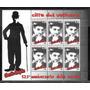 =cp= Selos/ Bloco Vaticano= Cinema= Charlie Chaplin=125 Anos