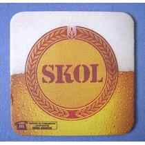 Bolacha Skol - Sem Uso - Chopp Cerveja