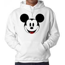 Blusa Moletom Mickey Canguru Com Capuz