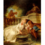 Casal Amor Namoro Na Fonte 1727 Pintor Troy Tela Repro