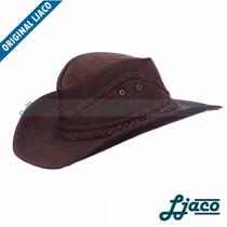 Chapeu Em Couro Legitimo Boiadeiro Country Cowboy Texano