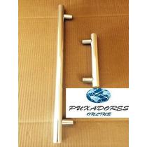 Puxador Duplo Para Porta Em Alumínio Brilhante 60cm