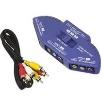 Chave Seletora Rca 3 X Tv Lcd Led Video Ps3 Ps2 Wii Xbox Dvd