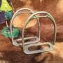 Raro Estribo 1155 Alpaca Metal Branco Eberle Da Cornetinha