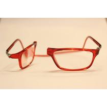 Óculos Clic - 100% Original - Veja Vídeo - Cor Vermelho