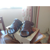 Sandalia Chinelo Couro Legitimo, Solado Pneu/ New Boots