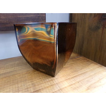Vaso Decorativo Espelhado Bronze Luxo 13 Cm
