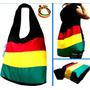 Bolsa Reggae Estilo Sacola Tecido +brinde Pulseira Do Reggae