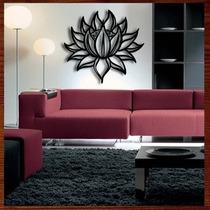 Quadro Decorativo Escultura De Parede Em Mdf Flor Lotus 90cm
