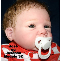 Boneca Bebê Reborn José Ou Josépha Igual Um Bebe De Verdade