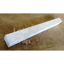 100 Caixinha Branca Decorada Cumprida - 3x3x24,4cm