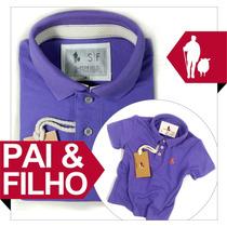 Novo Kit Tal Pai E Filho Sheepfyeld, Cor Lilas E + 40 Cores