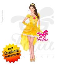 Fantasia Princesa Bela Da Bela E A Fera - Luxo