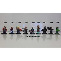 Lego Super Homem Iron Man Homem Aranha Thor Gavião Arqueiro!