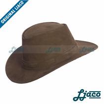 Chapeu Em Couro Legitimo Boiadeiro Country Cowboy Autraliano