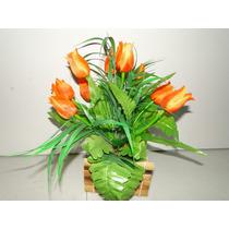 Tulipa Arranjo Cachepot Artificial Cana India 26x37cm