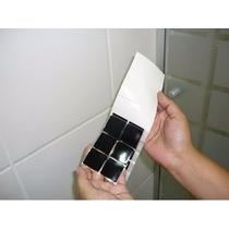 24 Cartelas De Adesivo Pastilhas Preto - Cozinha - Banheiro