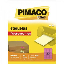 Etiqueta 5580m Carta 25,4 X 66,7 Emb 5 Folhas Pimaco
