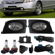 Kit Farol De Milha New Civic 2006 2007 2008 Completo