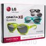 Kit 4 Óculos Lg Ag-f315 Cinema 3d Colorido Passivo*original*