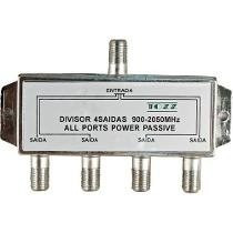 Divisor1 Entrada 4 Saidas 50-2400mhz Tv/satelite/cabo