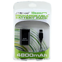 Kit Bateria Recarregável 4800mah Xbox 360 Cabo Usb Pack