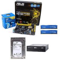 Kit Asus H81m-cs + Cpu I5 4440 + 8gb + Hd 1tb + Grav Dvd