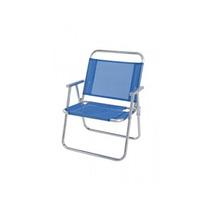 Cadeira De Praia Reforçada Alta Em Aluminio Mor Até 140 Kl