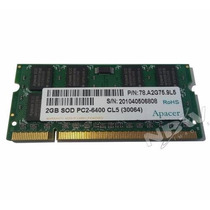 Memoria Ddr2 Notebook Netbook 2gb Ddr2 800mhz