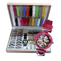Relógio Feminino C/ Estojo 26 Pulseiras 26 Aros Relogs