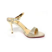Sandália Dourada Salto Alto Gold