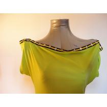 Blusa Longa Verde Abacate Malha Fria
